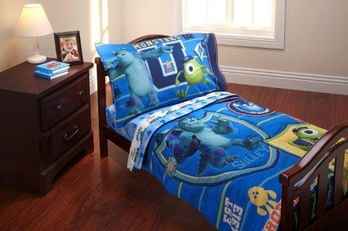 Monsters University Toddler Bedding Set 4Pc Comforter Sheets