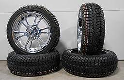 Bundle - 9 items: ITP SS112 Chrome Golf Wheels 12\