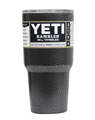 Powder Coated 30oz Yeti Rambler (Textured Silver Vein)