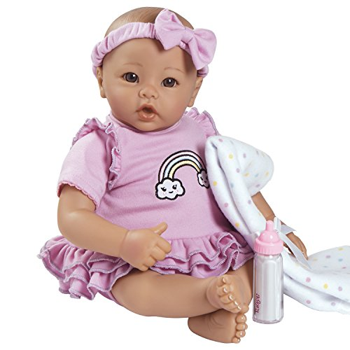 Adora-BabyTime-Lavender-16-Girl-3-Piece-Weighted-Washable-Play-Doll-Gift-Set-for-Toddlers-3-Includes-Bottle-Blanket-Snuggle-Soft-Huggable-Vinyl-Toy