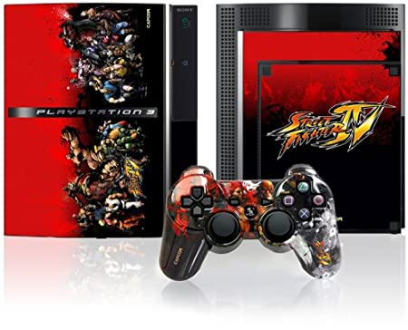 PS3 Official Street Fighter IV Controller Faceplate and Console Skinz  - Group