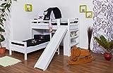 Etagenbett-Spielbett-Moritz-L-Buche-Vollholz-massiv-wei-lackiert-mit-Regal-und-Rutsche-inkl-Rollrost-90-x-200-cm