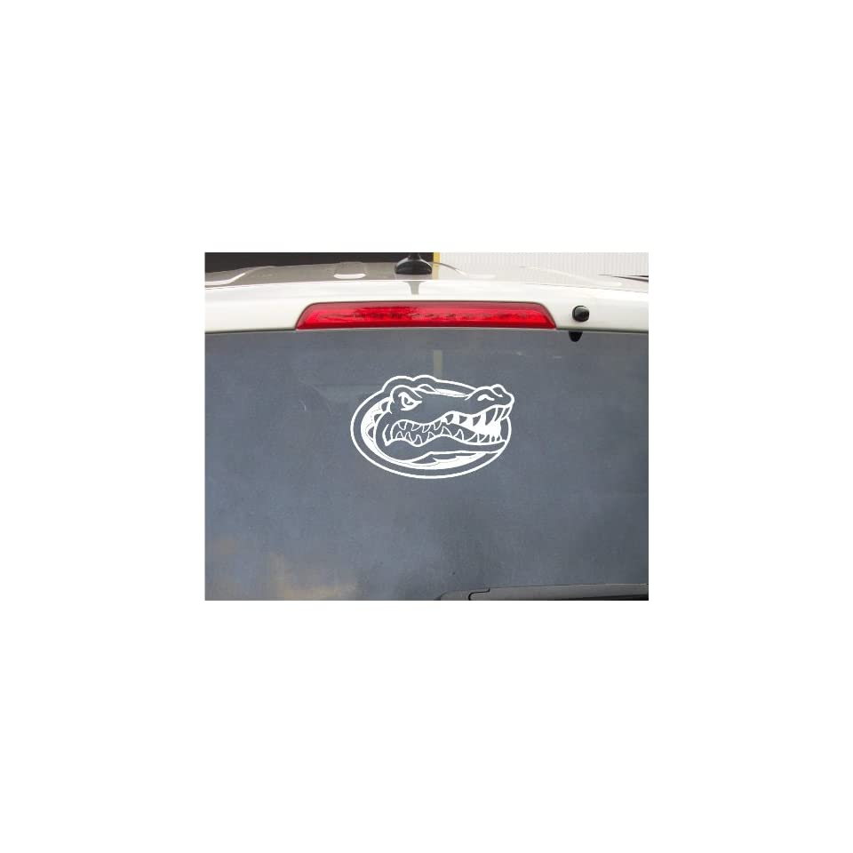 10 Inch Florida NCAA Gators Football White Decal Sticker Decor Wall Art Label Bumper Window Auto Body Graphics College Sports