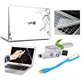 PRINT SHAPES 3d Sony Vaio Laptop Skin, Screen Protector,Key Guard,usb Led & Charging Data Cable