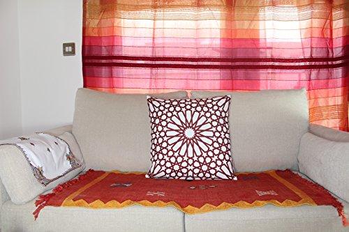 43x 43cm Geometrische Muster Design Marokkanische Kastanienbraun Burgund Fliesen Print Kissen Kissen Outdoor Cover-für Sofa Hundebett Geschenk Home Decor Kissen -