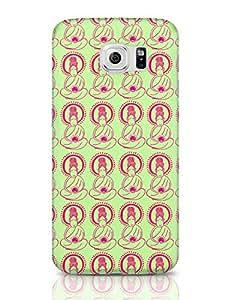 PosterGuy Samsung Galaxy S6 Case Covers - Buddha Doodle Buddha, Buddhism, Peace, Zen, Limegreen, Green, Fuschiapink, Blockdesigning