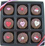 Valentines Day Gift Box Of 9 Milk Chocolate Oreo Cookies