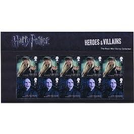 Estampillas de Héroes y Villanos de Harry Potter 2011 en Paquete de Presentación