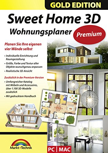 sweet home 3d wohnungsplaner premium edition mit zus tzlichen 3d modelle und gedrucktem. Black Bedroom Furniture Sets. Home Design Ideas