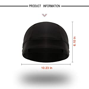 Go-sport 3 Pack Cooling Skull Cap Helmet Liner Sweat Wicking Cycling Running Hat for Men Women