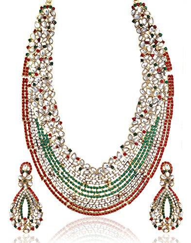 Zaveri Pearls  Choker  For Women Multi-Colour-ZPAM09