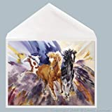 Western Horse Greeting Card Art 5 x 7 inch print of