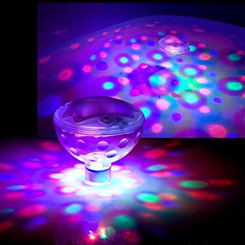 Agptek Led Floating Underwater Light Disco Ball For The Swimming Pool, Hot Tub, Spa, Bathtub, Pond, Etc