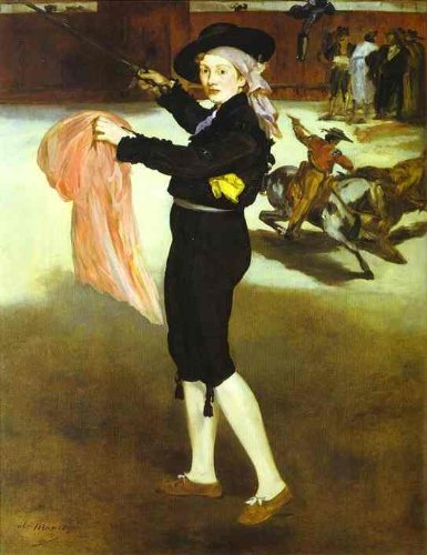 [Hand painted oil painting - 25 x 32 inches / 64 x 81 CM - Edouard Manet - Mlle Victorine Meurent in the Costume of an] (Mlle Victorine Meurent In The Costume Of An Espada)