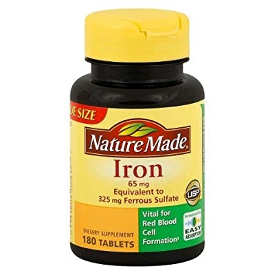 Nature Made Iron 65mg, 300 Tablets (Pack of 3) Nature-ikd7