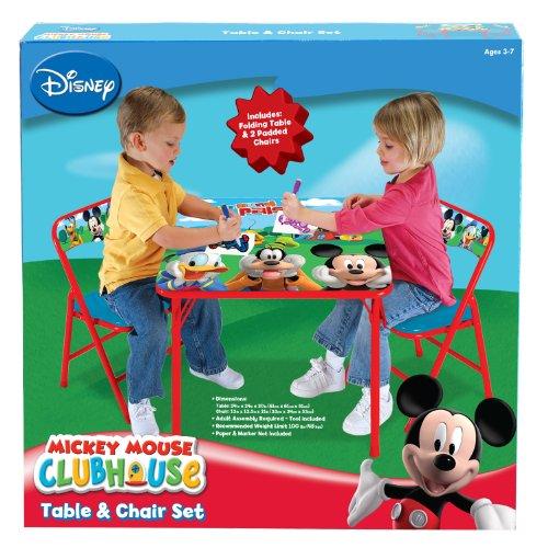 giocheria hdg33854 tavolo con 2 sedie soft mickey mouse club house