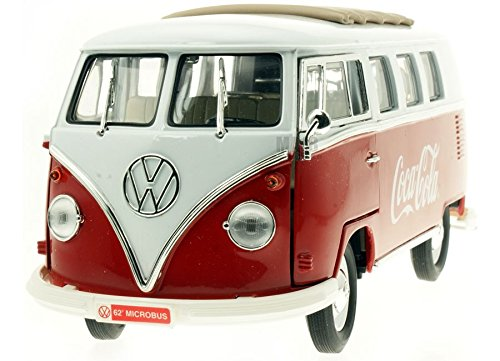 Motor City Classics 1962 VW Autobus Coca Cola, rosso/bianco