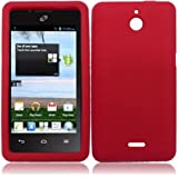 For Huawei Ascend Plus H881C Huawei Valiant Silicone Jelly Skin Cover Case Red Accessory