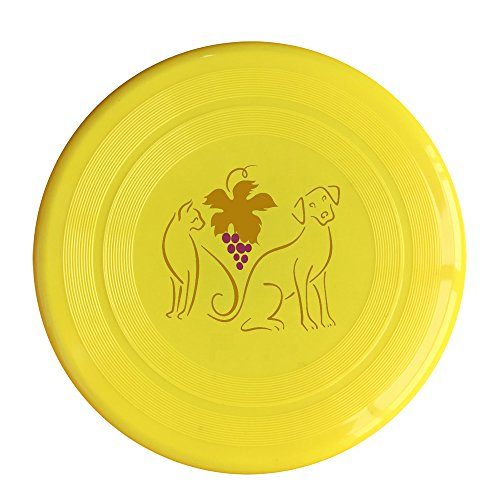 SAXON13CAP Cool Dog Cat Grape 150g Yellow Toy Flying Disc