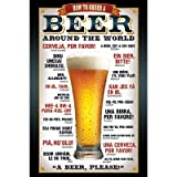 (24x36) Beer How To Order Around the World Art Poster Print ~ Poster Revolution