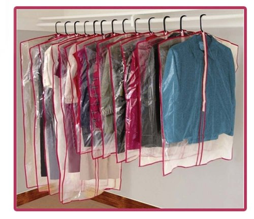Set 13 Garment Bags Zippered Sleeve Storage Space Suites