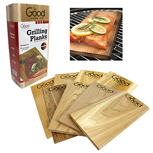 Best Price Grilling Planks - Outdoor Barbecue Smoking Grill Planks Variety Pack - Set of 8 (4 Alder,...