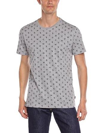 WeSC - T-Shirt - Homme - Gris (Grey Mélange) - XL