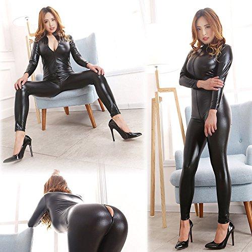 Love-Secret-Women-Catsuit-Bodysuit-Zip-up-Clubwear-Stripper-Costumes