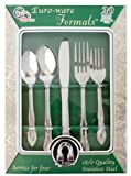 20 PIECE STAINLESS STEEL CUTLERY SET - SERVICE FOR 4, INCLUDES KNIVES, SPOONS AND FORKS