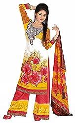 Pari Presents Multi Coloured Printed Dress Material
