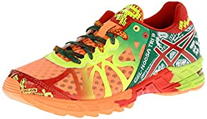 ASICS Women's Gel-Noosa Tri 9 Running Shoe,Bright Orange/Red Pepper/Flash Yellow,8 M US
