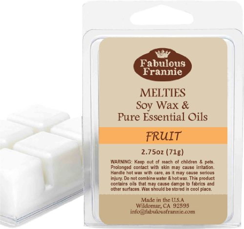 Fruit 2.5Oz Of 100% Natural Soy Candle Meltie/Tart/Melts With Pure Grapefruit, Lime & Orange Essential Oils