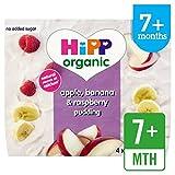HiPP Orgánica Apple, plátano y frambuesa Pudín 4 x 100g