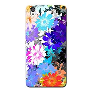 FLORAL ABSTRACT BACK COVER FOR ONE PLUS X