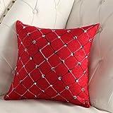 happu-store FASHION Pillow Case Cushion Cover Plaid Pillowcase