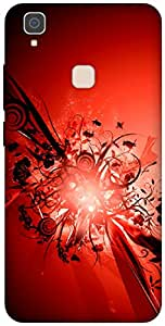The Racoon Lean Red hard plastic printed back case / cover for Vivo V3