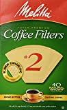 Melitta Cone Coffee Filters 40 Count #2 Natural Brown