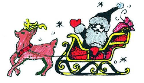 "Center Enterprise CE428 ""SANTA SLEIGH"" Stamp - 1"