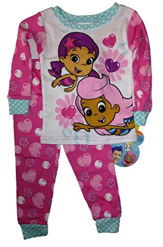 Nickelodeon Bubble Guppies Toddler Girls Pink Sleepwear Set Pajamas (3T) front-1031696