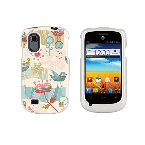 Spots8® For Zte Prelude Z992 / Avail 2 Z993 ( At&T / Aio Wireless ) Glossy Image Graphic Designs 2 Piece Snap On Images Cellphone Cell Phone Hard Protect Case Cover - Fun Wandering Design - Retail Packaging