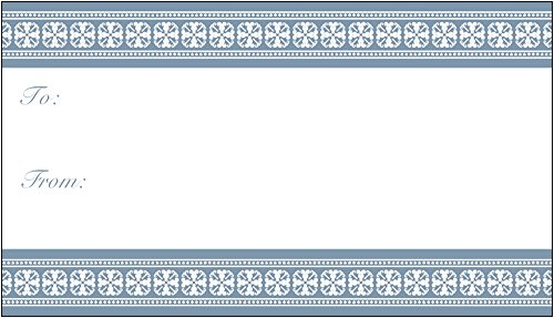 Vistaprint Custom Gift Tags (Blue Birth Announcement) front-816759