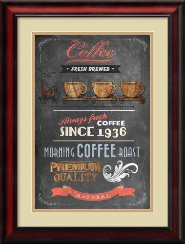 Coffee Menu Ii By Drako Fontaine Framed