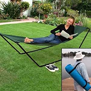 Amazon.com: Portable Foldaway Hammock With Stand And Carry ...
