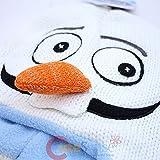 Disney Frozen Olaf Knit Hat, Knit Snowman Laplander with Carrot Nose