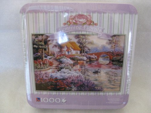 Feminine Florals Romantic Perfection 1000 Piece Puzzle in Storage Tin