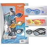 Speedo Junior Swim Goggle Set - 3 Pack (Blue/Yellow/Black)