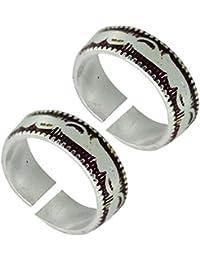 Antique Designer German Silver Toe Ring For Women