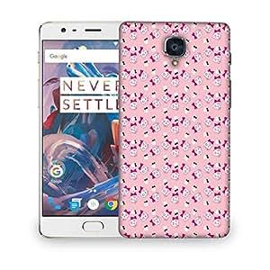 Snoogg cute aJNISkulls Designer Protective Back Case Cover For OnePlus 3