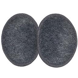 Ear Mitts Fleece Bandless Ear Muffs, Heather Grey, Small