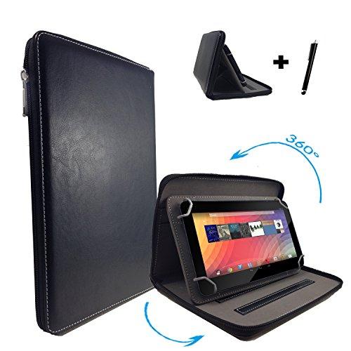 """Huawei MediaPad 10 FHD 3G 25,4 cm / 10.1 """" Tablet Pc Tasche mit 360 grad Drehfunktion - 10 Zoll Schwarz 360° Reißverschluss"""